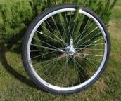 Колесо вело в сборе с шинойи втулкой  28 алюминиевое   STELS