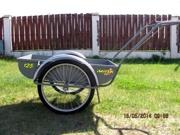 Велоприцеп (велотележка) для перевозки грузов ВП 125-150 на бескамерной резине
