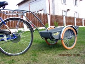 Грузовой велоприцеп (велотележка) ВП-100 (125-200) на надувных колесах